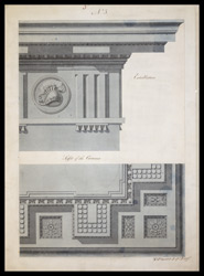 Entablature and soffit of the corona to the proposed mausoleum of Lord Cornwallis in Ghazipur